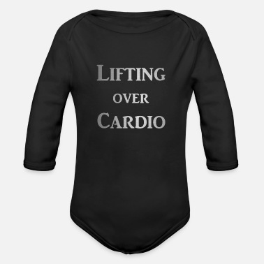 Power Lifting Lifting over Cardio - Organic Long-Sleeved Baby Bodysuit
