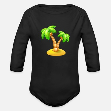 Palm Trees palm tree - Organic Long-Sleeved Baby Bodysuit