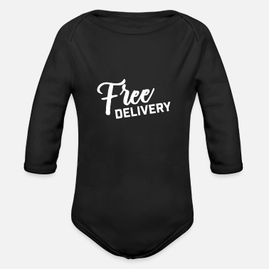Delivery Free Delivery - Organic Long-Sleeved Baby Bodysuit