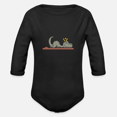 Humiliating Dinosaurs are humiliated - Organic Long-Sleeved Baby Bodysuit