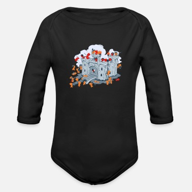 Sieg The Siege - Organic Long-Sleeved Baby Bodysuit