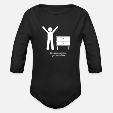 Congratulations Congratulations you are done - Organic Long-Sleeved Baby Bodysuit