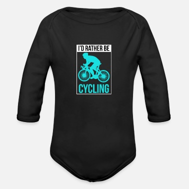 Cycling Cycling - Organic Long-Sleeved Baby Bodysuit