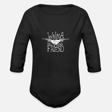 friends 01 - Organic Long-Sleeved Baby Bodysuit