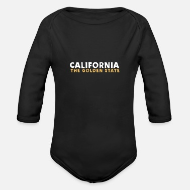 Golden State California - The Golden State - Organic Long-Sleeved Baby Bodysuit