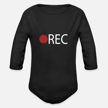 Record REC Record Recording - Organic Long-Sleeved Baby Bodysuit