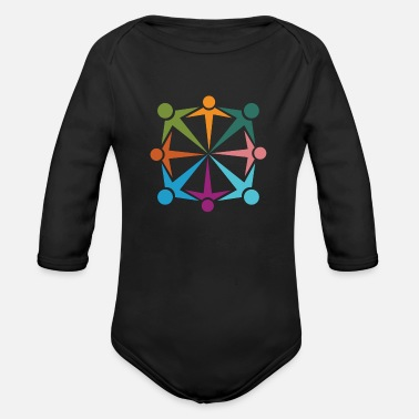 Team Work Team Work - Organic Long-Sleeved Baby Bodysuit