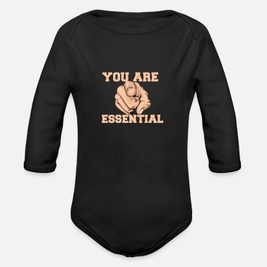 You are essential - Organic Long-Sleeved Baby Bodysuit