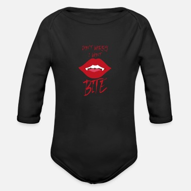 Suit Vampire Halloween Party Fall Gift - Organic Long-Sleeved Baby Bodysuit