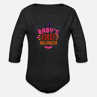 Reason Baby s First Halloween - Organic Long-Sleeved Baby Bodysuit