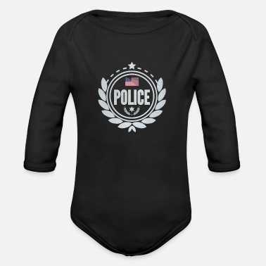 Nypd police - Organic Long-Sleeved Baby Bodysuit