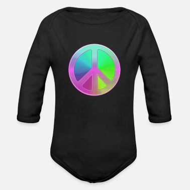 Peace Sign Peace Sign - Organic Long-Sleeved Baby Bodysuit