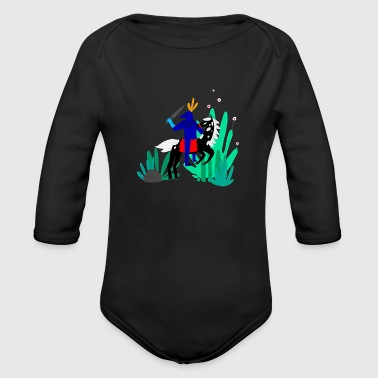 illustration - Organic Long Sleeve Baby Bodysuit