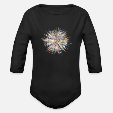 Explosion explosion - Organic Long-Sleeved Baby Bodysuit