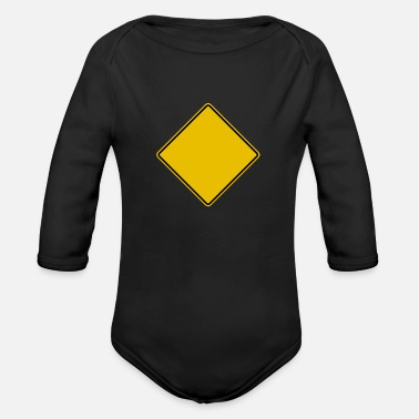 Traffic Sign traffic sign blanco - Organic Long-Sleeved Baby Bodysuit