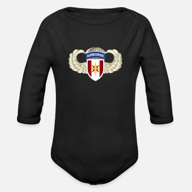 Army 44th Medical Brigade Wings - Organic Long-Sleeved Baby Bodysuit
