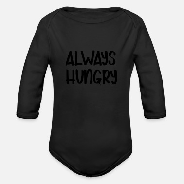 Hungry HUNGRY - Organic Long-Sleeved Baby Bodysuit