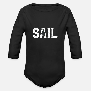 Sail Boat Sail Boat - Organic Long-Sleeved Baby Bodysuit