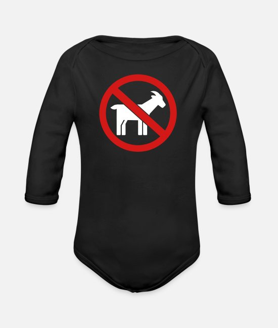 Prohibited Baby One Pieces - Goat - Organic Long-Sleeved Baby Bodysuit black