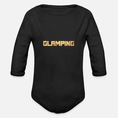 Deluxe Glamping Camping Van Life Gold Vacation - Organic Long-Sleeved Baby Bodysuit
