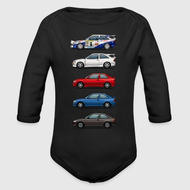 Stack of Ford Escort MkVs Coupes - Long Sleeve Baby Bodysuit