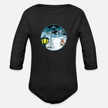 Winter winter - Organic Long-Sleeved Baby Bodysuit