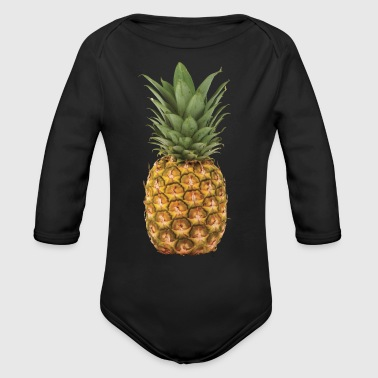 Pineapple - Organic Long Sleeve Baby Bodysuit