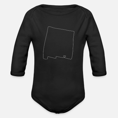 New Mexico NEW MEXICO Heart - Organic Long-Sleeved Baby Bodysuit