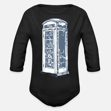 Booth phone booth - Organic Long Sleeve Baby Bodysuit
