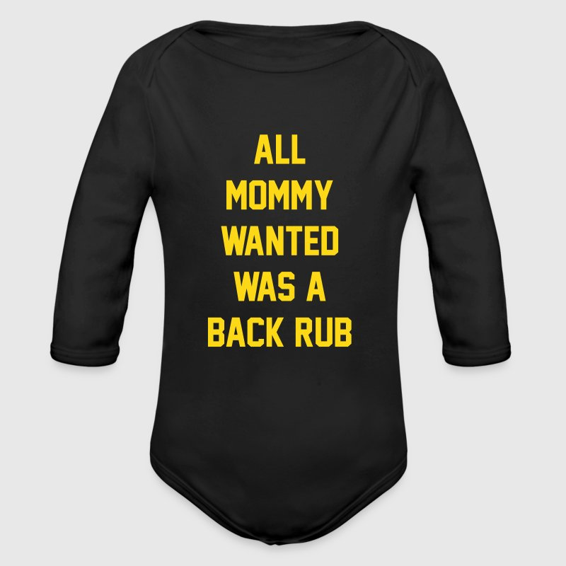 But daddy got a little too excited - Organic Long Sleeve Baby Bodysuit