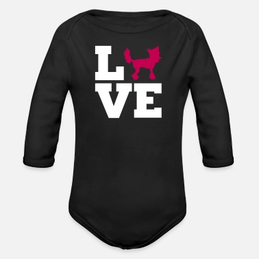Chinese Crested Chinese Crested - Organic Long-Sleeved Baby Bodysuit