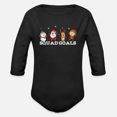 Advent Squad Goals Cute And Funny Christmas Team Gift - Organic Long-Sleeved Baby Bodysuit