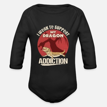 Reptile Lizard Quote for a Bearded Dragon Lover - Organic Long-Sleeved Baby Bodysuit