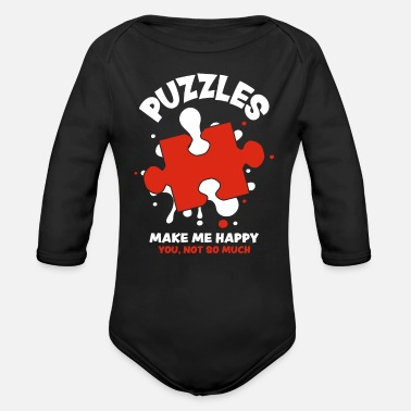 Puzzle Puzzle - Organic Long-Sleeved Baby Bodysuit