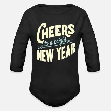 New Year New Year New Year's Eve - Organic Long-Sleeved Baby Bodysuit