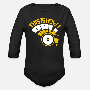 Handicap Funny Wheelchair Handicap - Organic Long-Sleeved Baby Bodysuit