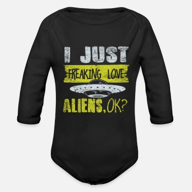 Alien Alien - Organic Long-Sleeved Baby Bodysuit