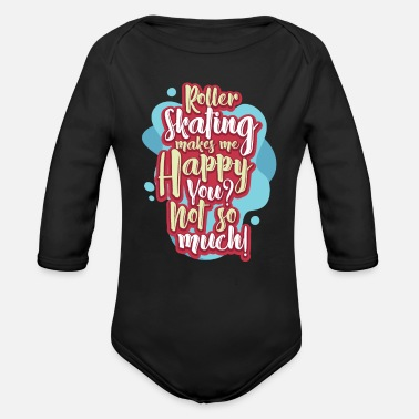 Roller Skate Roller Skating - Organic Long-Sleeved Baby Bodysuit