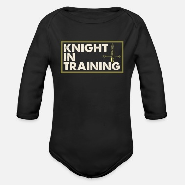 Knight Fight Knight in Training - Organic Long-Sleeved Baby Bodysuit