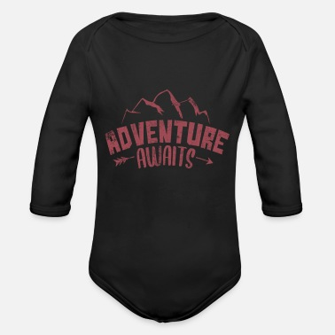 Hiking Adventure Awaits Adventure Awaits Mountain Hiking - Organic Long-Sleeved Baby Bodysuit