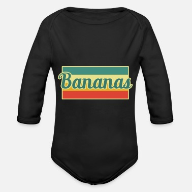 Banana Bananas Banana - Organic Long-Sleeved Baby Bodysuit