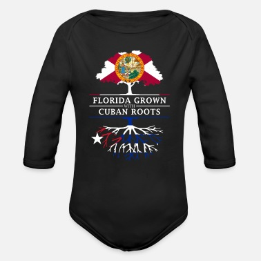 Cuban Roots Design Florida Grown with Cuban Roots Design - Organic Long-Sleeved Baby Bodysuit
