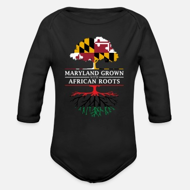 Maryland Grown with African Roots - Organic Long-Sleeved Baby Bodysuit
