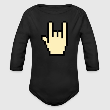 Devil Greeting - Long Sleeve Baby Bodysuit