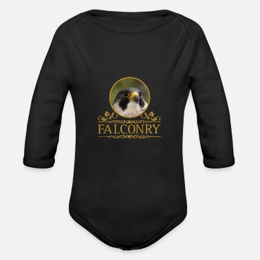 Peregrine Falcon Falconry Peregrine Falcon - Organic Long-Sleeved Baby Bodysuit