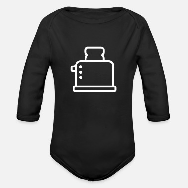 Toaster Toaster - Organic Long-Sleeved Baby Bodysuit