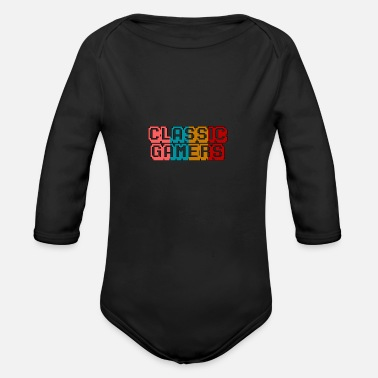 Games Gaming - Organic Long-Sleeved Baby Bodysuit