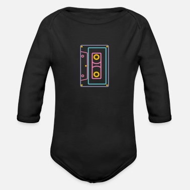 80s I Love 80s Eighties Fancy Dress Theme Party Gift - Organic Long-Sleeved Baby Bodysuit