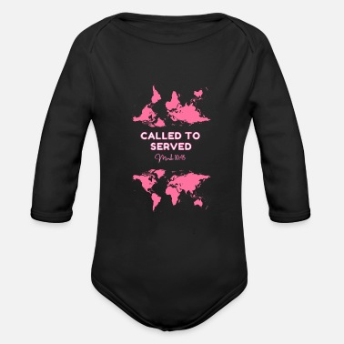 Ransom Called to served - Organic Long-Sleeved Baby Bodysuit