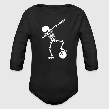 Dab skeleton dabbing bowling ball - Long Sleeve Baby Bodysuit